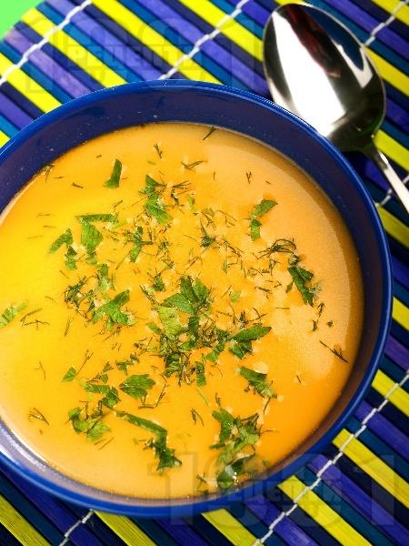 Супа от нахут със сметана - снимка на рецептата